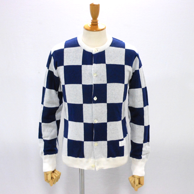 【CHECKERED FLAG CREW NECK CARDIGAN】 NMKN-15SS-004*117画像1
