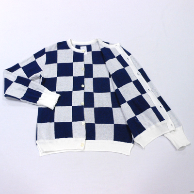 【CHECKERED FLAG CREW NECK CARDIGAN】 NMKN-15SS-004*117画像9