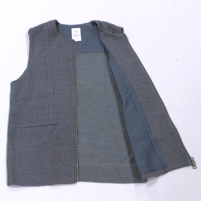 【STRETCH FLANNEL GILET】 NMVE-15AW-001*117画像10