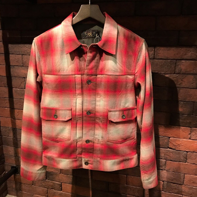 【COTTON WOOL PLAID JACKET】 MNRROTW16010096*307