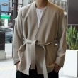 【RM202-044 STRETCH BELTED JACKET】*117